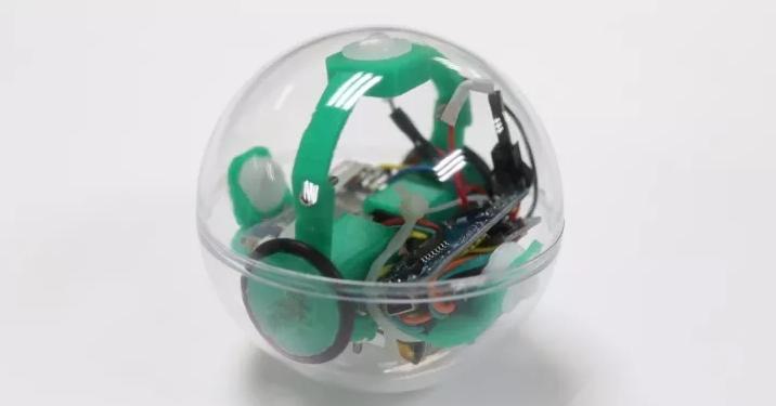 信息学院信息选送的创客作品:球型机器人