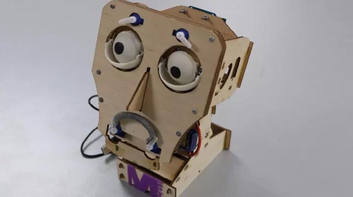 最后一个创客作品是表情机器人