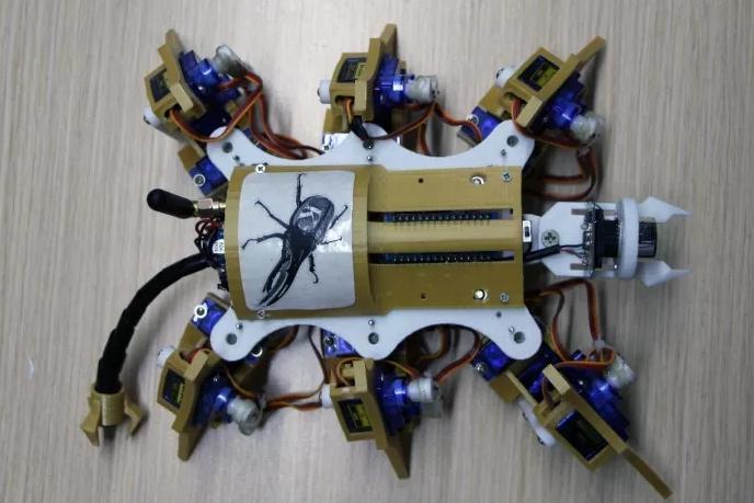 期盼已久的六足机器人创客作品