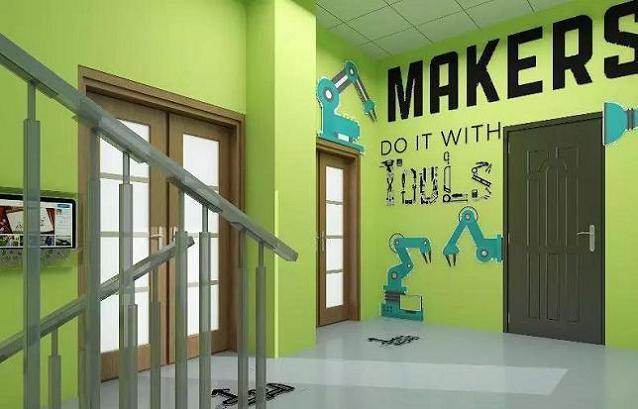 3D创客教室的走廊空间设计