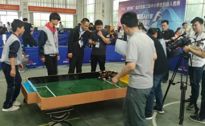 山东省沂水县第三实验小学在第二届中小学生机器人比赛中喜获佳绩